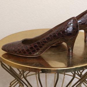 Vintage Heels Sz 8 Alligator Chandler's French